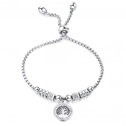 Wholesale Stainless Womens Bracelet with Life Tree