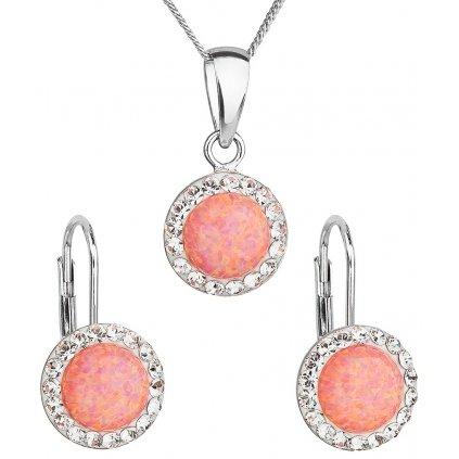 Opálové šperky. Náušnice prívesok a retiazky. Dámska súprava šperkov