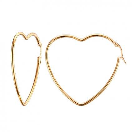 Náušnice z chirurgickej ocele v tvare srdca 4