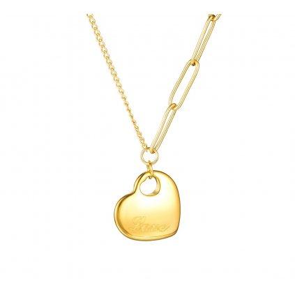 Dámsky náhrdelník so srdiečkom Love