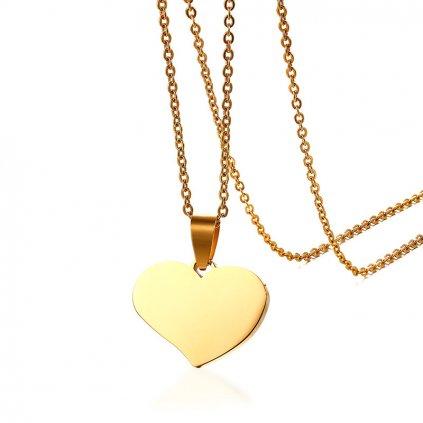 Prívesok srdce s retiazkou 1