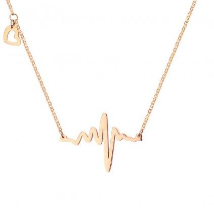 Dámsky náhrdelník údery srdca 2