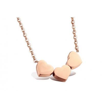 Dámsky náhrdelník 3 srdiečka