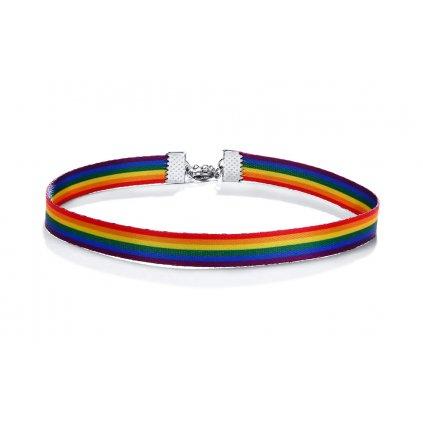 Dúhový náhrdelník 31 cm