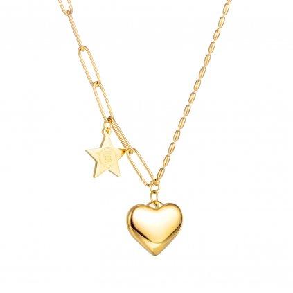Dámsky náhrdelník srdce a hviezda