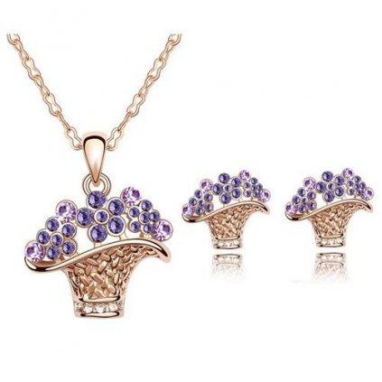Set s fialovými kryštálmi 2182