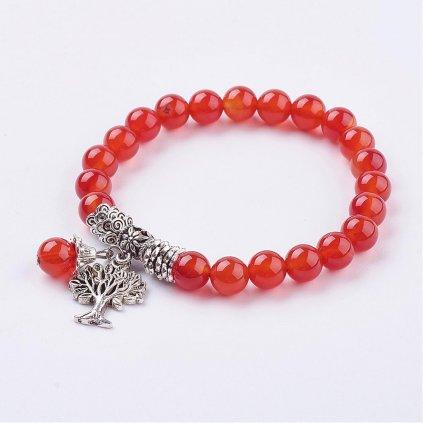 Náramok červený karneol so stromom života