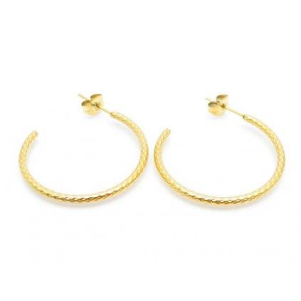 Náušnice otvorené kruhy zlatej farby 30 mm
