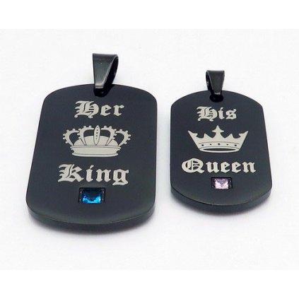 Prívesky pre dvoch King a Queen