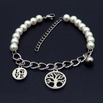 Dámsky náramok strom života a perličky
