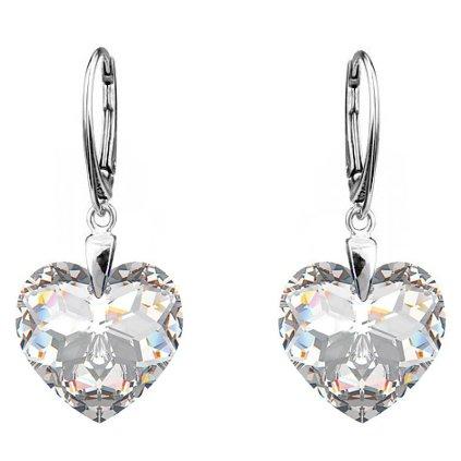 Strieborné náušnice so Swarovski crystals 6215