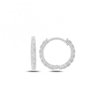 Strieborné náušnice kruhy so zirkónmi