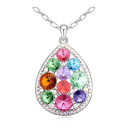 Exkluzívny náhrdelník s kryštálmi