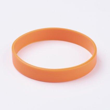 Silikónový náramok oranžový univerzálny