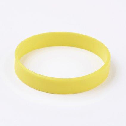 Silikónový náramok žltý univerzálny