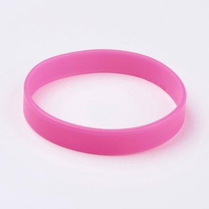 Silikónový náramok ružový univerzálny