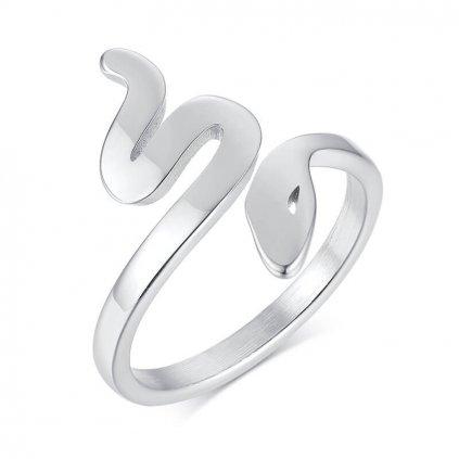 Dámsky prsteň so vzorom hada z chirurgickej ocele