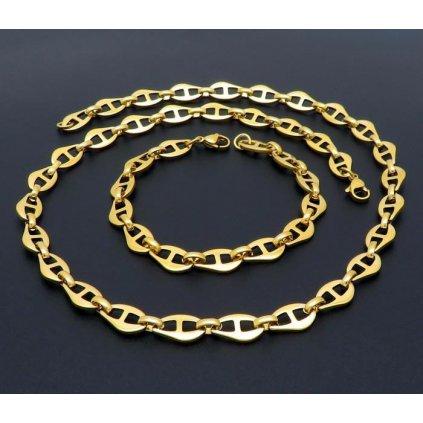 Súprava z chirurgickej ocele zlatej farby 55 20