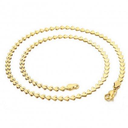 Retiazka 46 cm dámsky srdiečkový náhrdelník z chirurgickej ocele