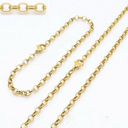 Súprava z chirurgickej ocele zlatej farby OM 50 20
