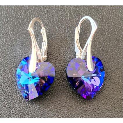 Swarovski crystals srdiečkové náušnice