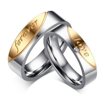 Prstene pre páry z chirurgickej ocele - 2ks