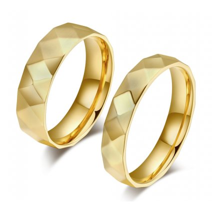 Prstene pre dvoch Lux - zlatý vzhľad 2ks