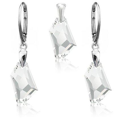 Strieborný set Made with Swarovski Crystals De-art Crystal číre