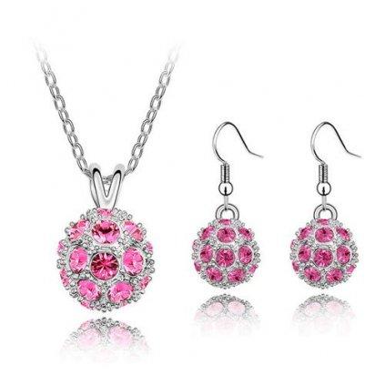 Set Ball s ružovými kryštálmi 2180