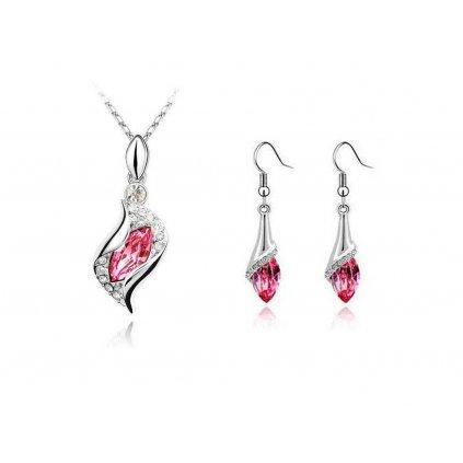 Set SWI crystal Exclusive náhrdelník s nastaviteľnou retiazkou a náušnice