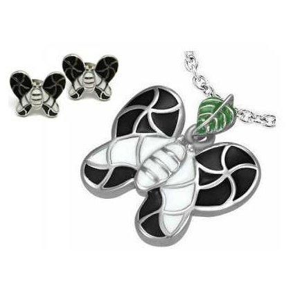 Dámsky set Black and White Butterfly