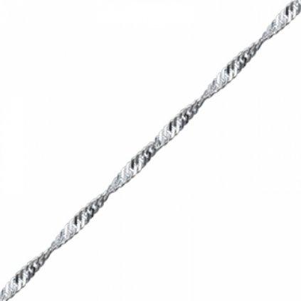 Strieborná retiazka pletená 45 cm
