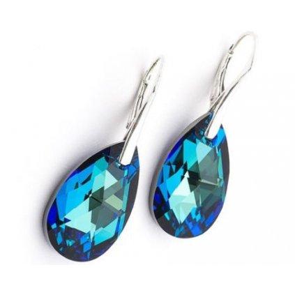 Náušnice SWAROVSKI 6106 Bermuda Blue earrings