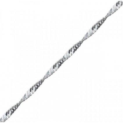 strieborná retiazka prepletená 55 cm