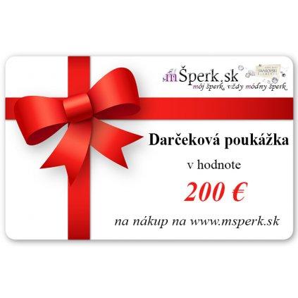 Darčeková poukážka v hodnote 200€