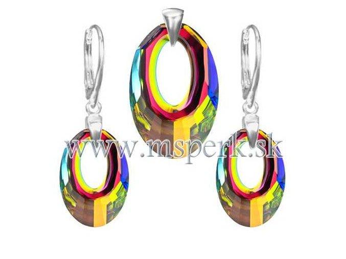 Exkluzívny set SWI crystal v tvare kruhu farebný
