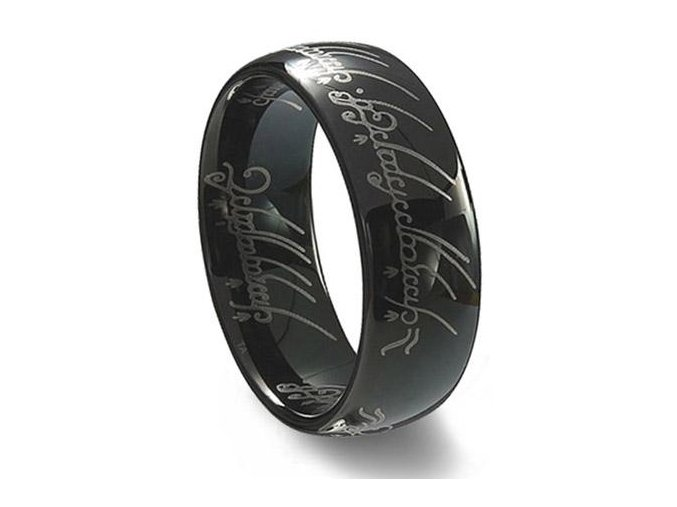 Prsteň Pán prsteňov Black edition Lord of the Rings 0578