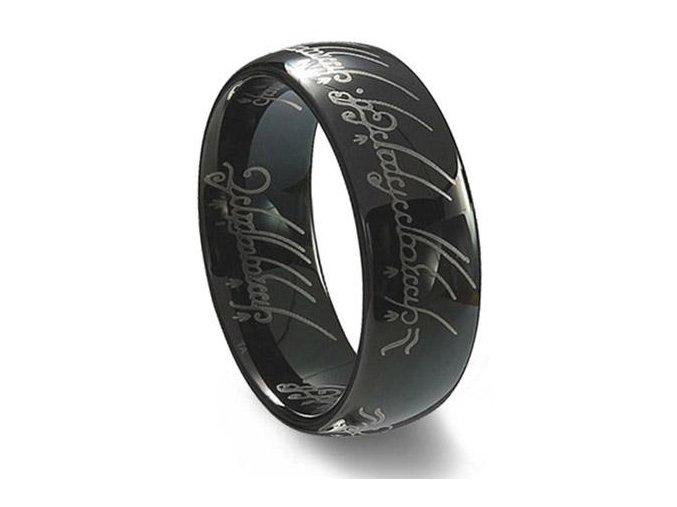 Prsteň Pán prsteňov Black edition Lord of the Rings 0578