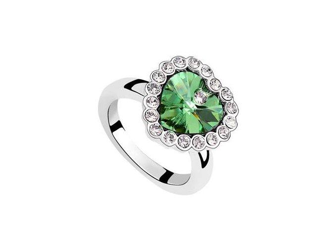 Exkluzívny prsteň SW Vykladané srdce 2237