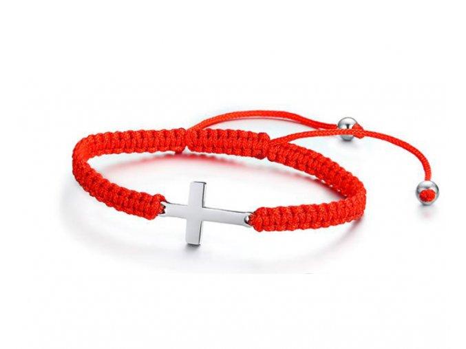 Kabbalah s krížom červený nastaviteľný