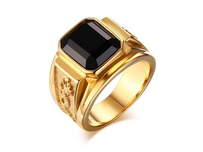 Dragon pánsky prsteň z chirurgickej ocele s drakom