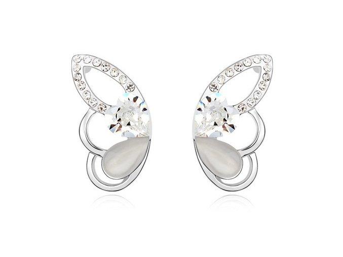 Náušnice SW crystal Butterfly