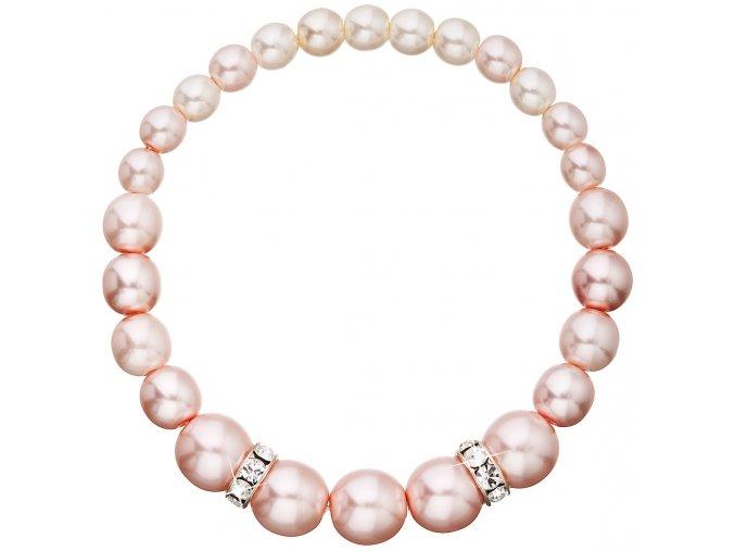 Perlový náramok Swarovski ružový
