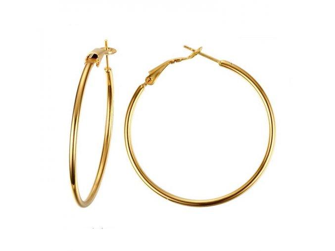 Náušnice kruhy zlatej farby 40 mm