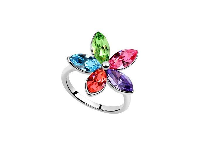 Prsteň SWI crystal Kvet