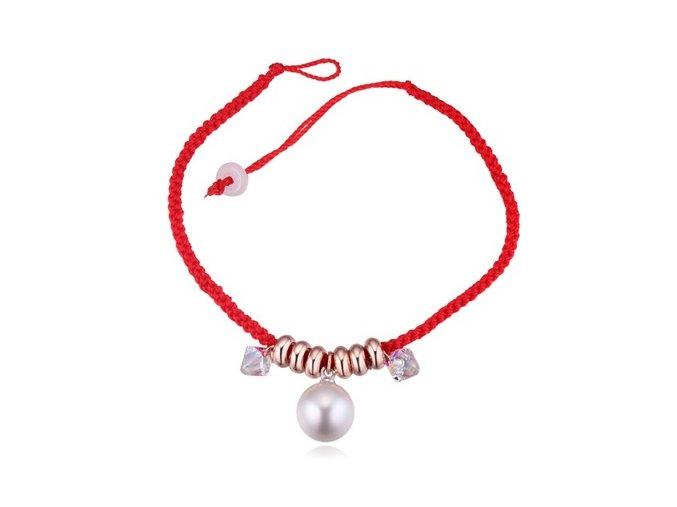 Kabbalah náramok s príveskom perla