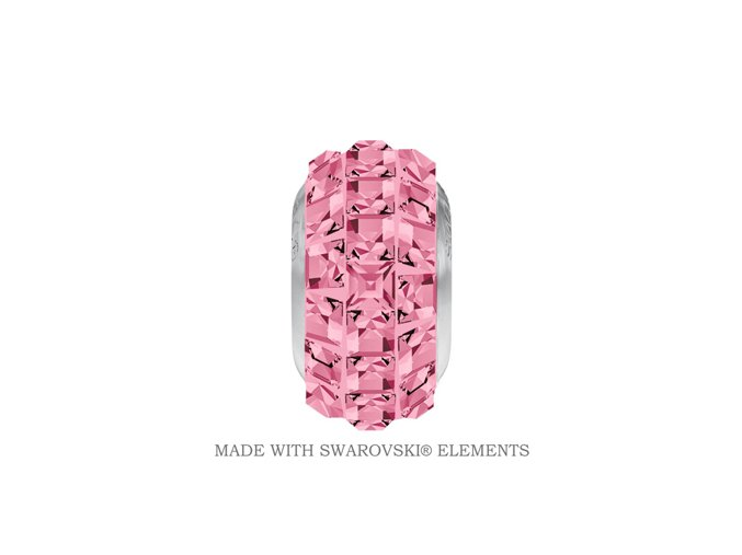 BeCharmed Pave Crystal Light Rose
