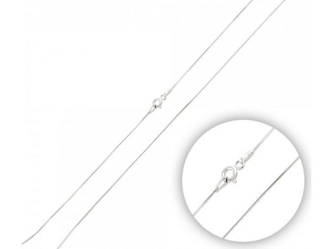 Strieborná retiazka hadík 40 cm