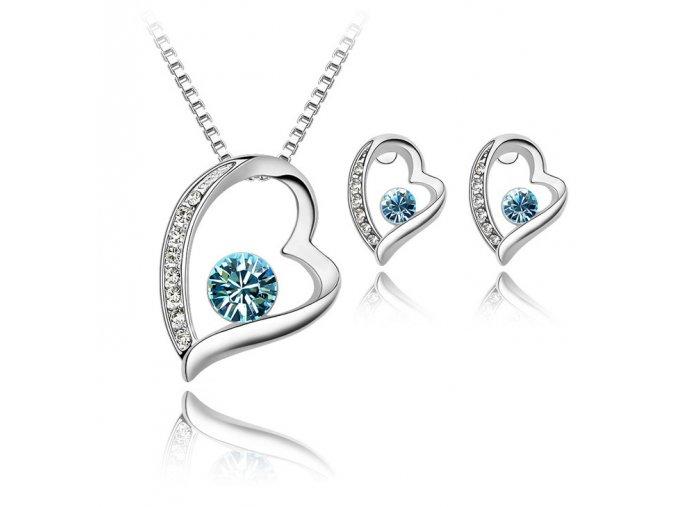 Set SWI crystal Srdce s kryštálmi 1429