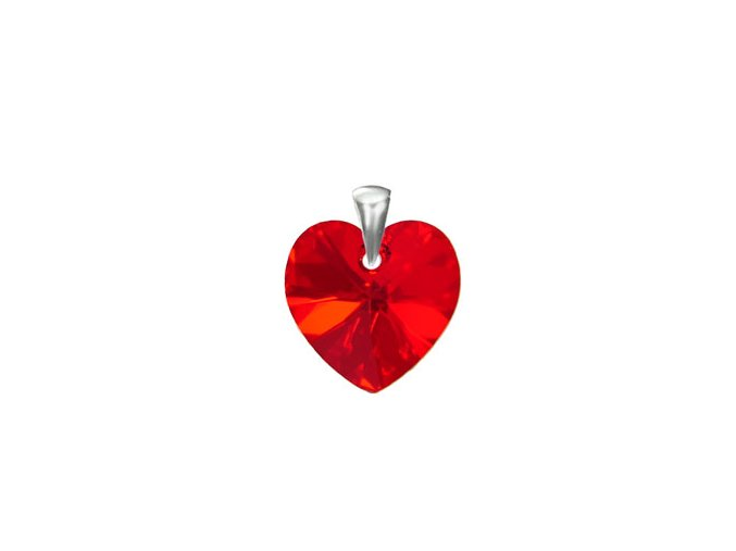 Prívesok srdce Made With Swarovski Crystals 14mm